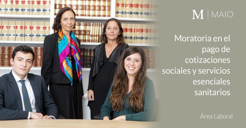 Moratoria en el pago de cotizaciones sociales y servicios esenciales en determinados centros y establecimientos sanitarios