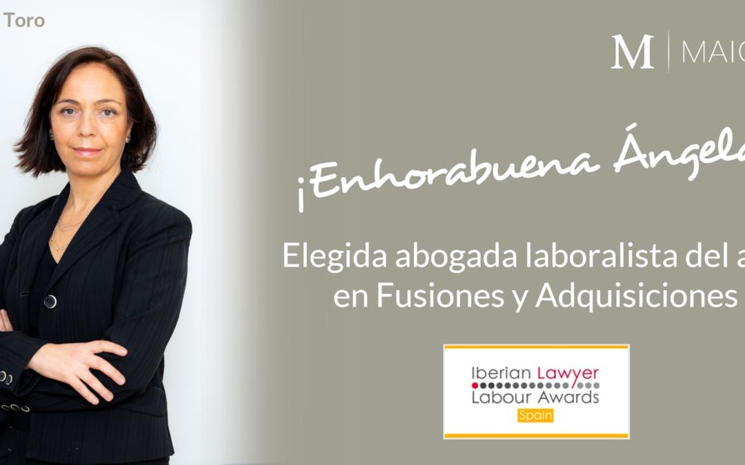 Ángela Toro, elegida abogada laboralista en Fusiones y Adquisiciones por Iberian Lawyer
