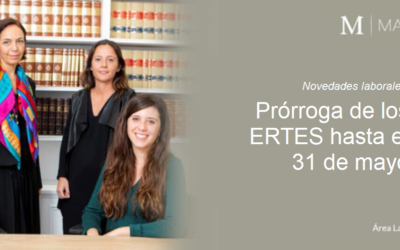 Prórroga de los ERTES hasta el 31 de mayo