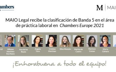 Chambers destaca el área de práctica laboral de MAIO Legal