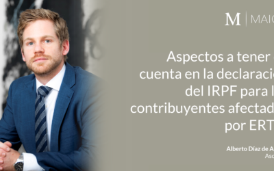 Aspectos a tener en cuenta en la declaración del IRPF para los contribuyentes afectados por ERTE