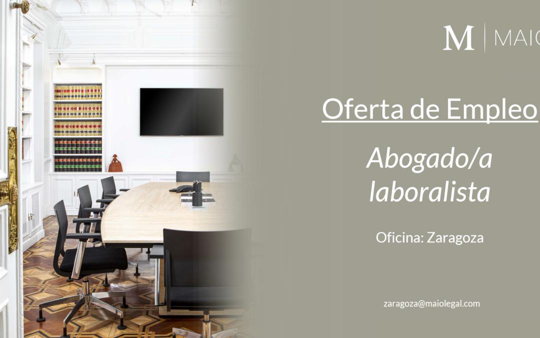 OFERTA DE EMPLEO: Abogado/a Laboralista en Zaragoza