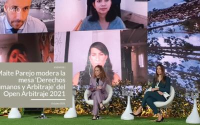 Maite Parejo modera la mesa 'Derechos Humanos y Arbitraje' del Open Arbitraje 2021